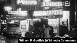 Улица Свинга: 52-ая стрит, Нью-Йорк.1948 год