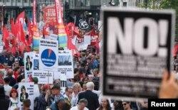 Протесты против саммита НАТО в Брюсселе 24 мая 2017 года