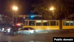Авария с участием трамвая на улице Макатаева в Алматы. 13 октября 2015 года.