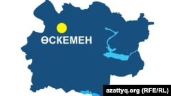 Шығыс Қазақстан облысының аумақтық картасы.