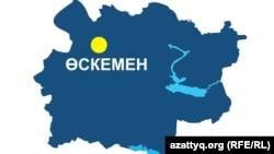 Шығыс Қазақстан облысының картасы
