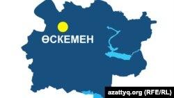 Шығыс Қазақстан облысының аумақтық картасы. (Көрнекі сурет)