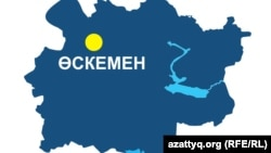 Шығыс Қазақстан облысының аумақтық картасы (Көрнекі сурет).