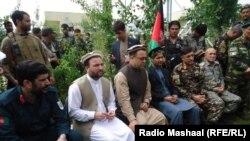 د افغانستان د سرحداتو وزیر ګلاب منګل او نور چارواکي