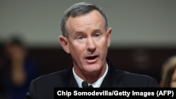 Former commander of U.S. Special Operations William McRaven (file photo)
