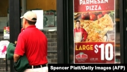 A Papa John's pizza restaurant in New York (file photo)
