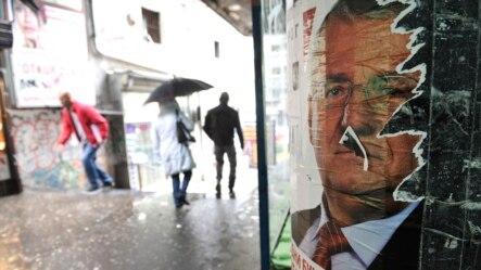 Predizborni plakat Vojislava Šešelja na ulicama Beograda