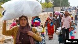 Сириски бегалци во Турција.