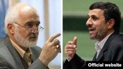 محمود احمدی نژاد (راست) و احمد توکلی
