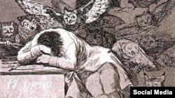 Франсіска Гоя. Сон розуму нараджае пачвараў. 1797