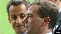 Авторы плана мирного урегулирования военного конфликта в Грузии - Дмитрий Медведев и Николя Саркози