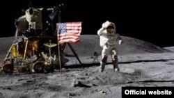 Амэрыканскі астранаўт Джон Янг на Месяцы, 1972