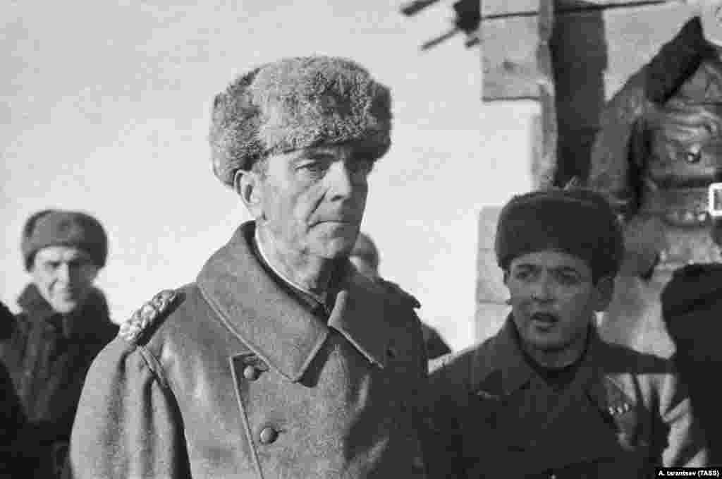 German Field Marshal Friedrich Paulus is pictured after his capture at Stalingrad in early 1943. (TASS/A. Tarantsev)