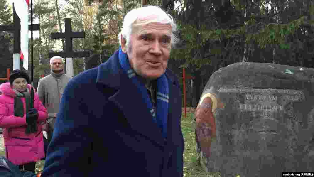 Вацлаў Нямковіч, шматгадовы старшыня«Хрысьціянскай злучнасьці «Курапаты». Пайшоў з жыцьця ў траўні 2016 году.