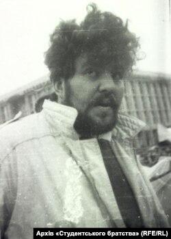 Маркіян Іващишин під час студентської революції