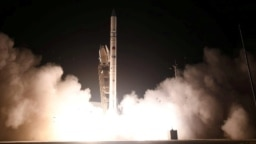 The Ofek-16 is launched into space from a site in central Israel on July 6.