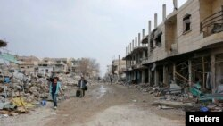Suriyanın Kobani şəhərindən görüntü