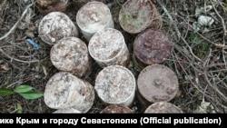 Боеприпасы времен Второй мировой войны, обнаруженные в Севастополе