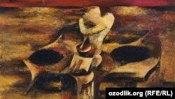 """Özbək rəssamı Qafur Qodirovun """"Tənhalıq rəsmi, 1989"""
