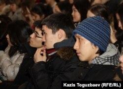 Студенттер. Алматы, 27 қаңтар 2012 жыл. (Көрнекі сурет)