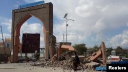 نمایی از ویرانی زلزله در شهر غزنی افغانستان