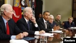 Barak Obama gjatë takimit për diskutimin e Marrëveshjes për reduktimin e armëve