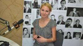 Alla Ceapai în studioul Europei Libere din Chişinău