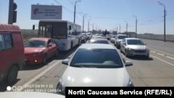 Выезд из Каспийска
