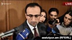 И. о. министра здравоохранения Арсен Торосян, Ереван, 7 ноября 2018 г.