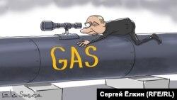 Szergej Elkin karikatúrája