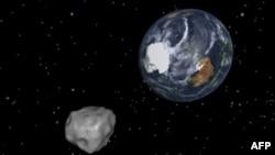 Астэроід 2012DA14 у графіцы NASA