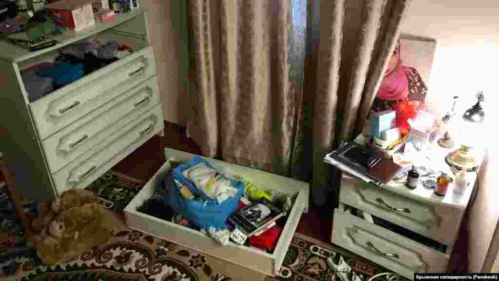 Дом Сейтумера Сейтумерова после обыска