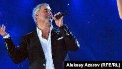 Российский певец Валерий Меладзе. Алматы, 8 сентября 2012 года.