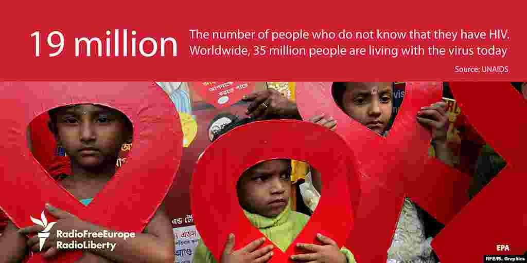 19 миллионов - число людей, не знающих, что они являются носителями ВИЧ-инфекции.