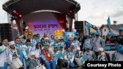Паралимпиада ойындарына барған Қазақстан делегациясы. Сочи, 7 наурыз 2014 жыл.