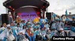 Казахстанская команда на Паралимпиаде в Сочи. 7 марта 2014 года.