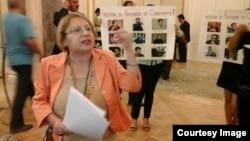 Azerbaijan -- Leyla Yunus. Protest. NATO. Rose-Roth