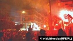 Демонстрации во Порт Саид на 20 јануари 2013 година.