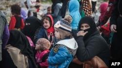 Бежанци от сирийската провинция Идлиб