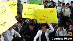 دومین روز تحصن دانشجویان دانشگاه بابل (عکس از خبرنامه امیرکبیر)