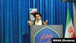 Iranian cleric Ayatollah Ahmad Khatami delivers a sermon during the Friday Prayers in Tehran, November 22, 2019