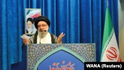 "Ayatollah Ahmad Khatami called on the authorities to keep ""foreign networks"" blocked, saying they were ""teaching people to riot [and] commit crimes."""