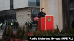 Премиерот Никола Груевски на промоцијата на Порта Македонија
