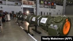 Sistemul controversat de rachete tip 9M729 la o expoziție de tehnică militară la Moscova, 23 ianuarie 2019
