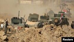 Իրաքի զորքերը շարժվում են դեպի Մոսուլի օդանավակայան, 23-ը փետրվարի, 2017թ․