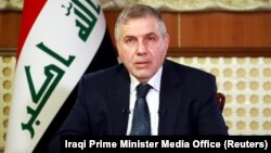 Mohammad Allawi, the Iraqi prime minister-designate, addresses the nation on February 19.