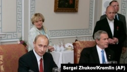 Владимир Путин һәм Джордж Буш Зур сигезлек очрашуында, 2006 ел