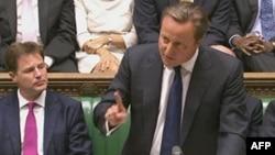 Մեծ Բրիտանիա - Վարչապետ Դեյվիդ Քեմերոնը ելույթ է ունենում խորհրդարանում, Լոնդոն, 29-ը օգոստոսի, 2013թ․