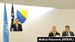 Ban Ki Mun se obraća poslanicima Predstavničkog doma i Doma naroda Parlamentarne skupštine BiH, 25. jul 2012.