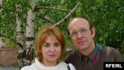 Адам Варанец з жонкай Клаўдзіяй